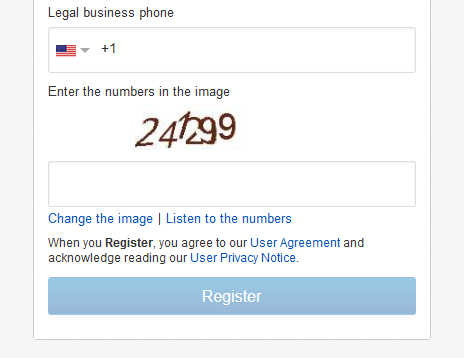 eBay Seller Account Registration