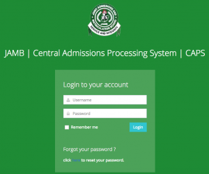 Check JAMB Admission Status On JAMB CAPS