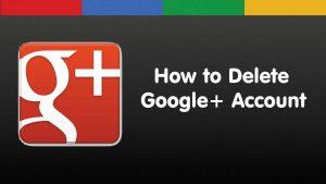 delete your google plus account
