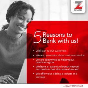Open Zenith bank account