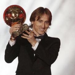Luka Modric wins 2018 ballon d'Or
