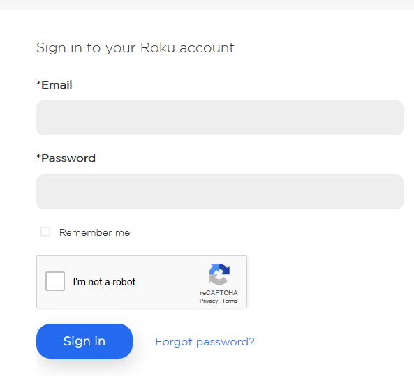 Roku Account Registration