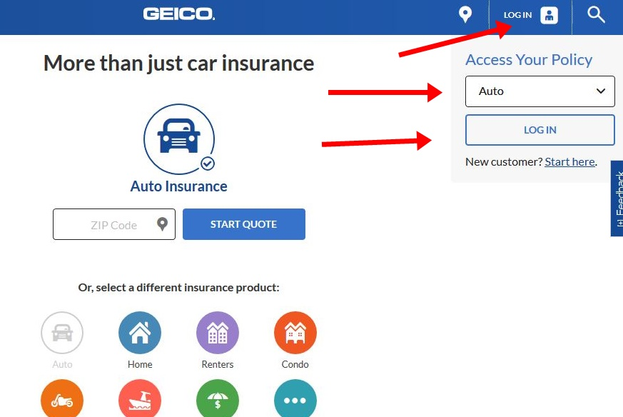 Geico Insurance Login At Wwwgeicocom Login Page Online Pluz